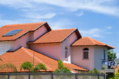 House with tile roof — Stock Photo