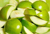Apple slices — Stock Photo