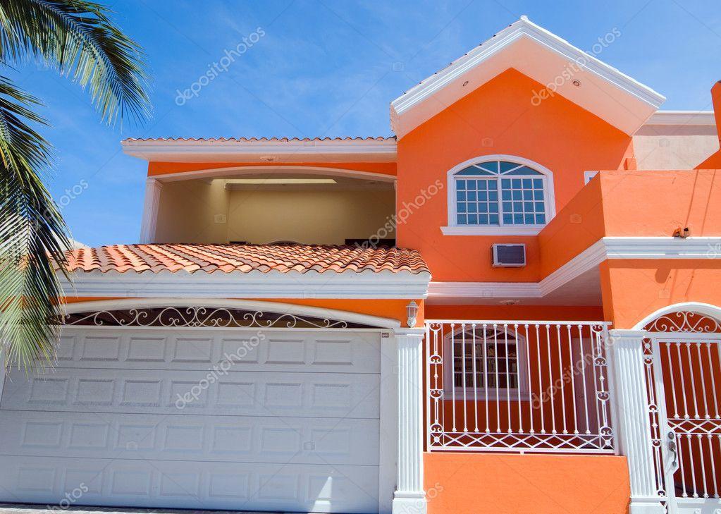 Bright paint house stock photo yuriy61 8594759 for Colores para casas por fuera