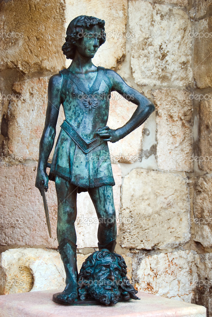 King David statue. Citadel Old City Jerusalem Israel — Stock Photo #9050545