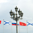 Flags of the Russian Federation — Stock Photo