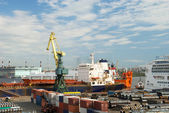 Port in St. Petersburg — Stock Photo