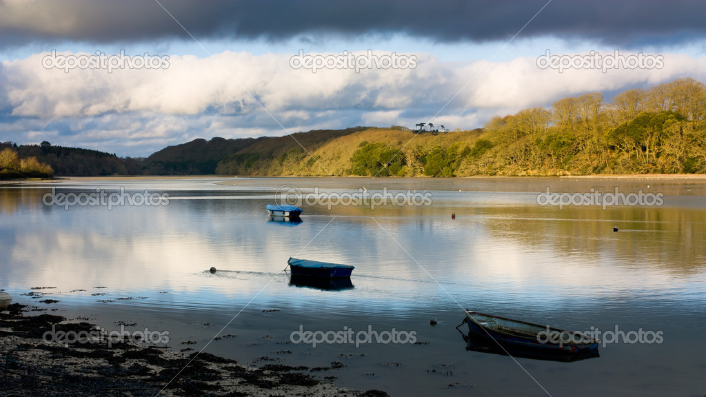 Tresillian River at St Clement, Cornwall England UK — Stock Photo #10263515