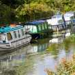 Boats on a Canal - Stock Photo