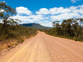 Red dirt road — Stock Photo