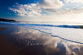 Clouds reflected — Stock Photo