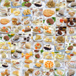 Photo collage of food - Stock Photo