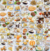 Photo collage of food — Stock Photo
