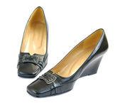 Black women's shoes — Stock fotografie