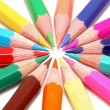 Circle of colored pencils — Stock Photo #8730543