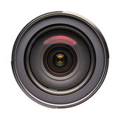 Front view on photo lens (isolated) — Stock Photo