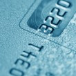 Stock Photo: Credit card (blue toned)
