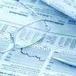 Stock Photo: Finance news review (blue toned)