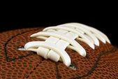 Close up of american football ball — Stock Photo