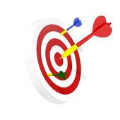 Darts symbol of right solution — Stock Photo