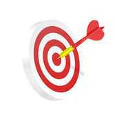 Darts symbol of strategy or business success — Stock Photo