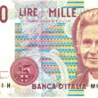 Royalty-Free Stock Photo: Old italian note, 1000  lire