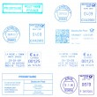Blue europepostmarks — Stock Photo #8487000
