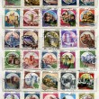 Stock Photo: Bunch of italipost stamp, series castles