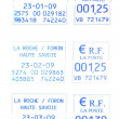 Three french postmark 23-2009 — 图库照片 #8487599