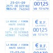 Stock Photo: Three french postmark 23-2009