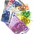 Stock Photo: ALL THE EURO BANKNOTES