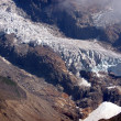 Glacier of Monte Rosa (pink mountain) - Stock Photo