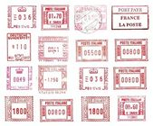 Rectangular postmarks — Stock Photo