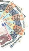 Detail euro notes — Stock Photo