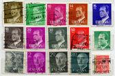 Eski i̇spanyol posta pulları — Stok fotoğraf
