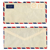 Airmail letter with UK postage meter stamp — Stock Photo