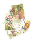 Republic of the Slovenian tolar banknotes back — Stock Photo