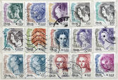Bunch of italian post stamps — Stock Photo