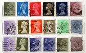 Range of UK postage stamps — Stock Photo