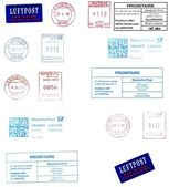 German postmarks — Stock Photo