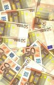 Background notes EUROPEAN Fifty euro — Stock Photo