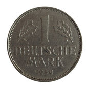 One German Mark (1 Deutsche Mark) coin — Stock Photo