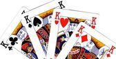 Playing cards; poker of king — Stock Photo
