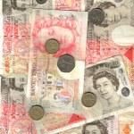 English money background — Stock Photo