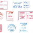 Bunch of europepostmarks — Stock Photo #8744060