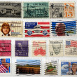 Range of USA postage stamps - Stock Photo