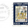Commemorative stamp 120 ° Unione Sarda newspaper — Stock Photo