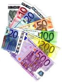 ALL THE EURO BANKNOTES — Stock Photo