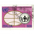 Italian post stamp for  Crime Prevention Conference — Stock Photo