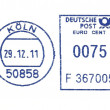Blue german postmark — Stockfoto