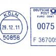 Blue german postmark — Stock Photo