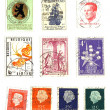 Range of european post stamps - Stock Photo