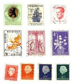 Range of european post stamps — Stock Photo
