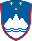 Escudo de armas de eslovenia — Foto de Stock