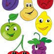 Funny fruit — Stock Vector #10728310